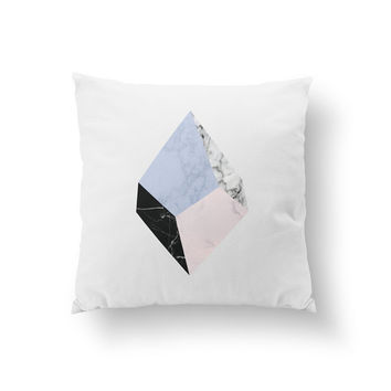 Marble Pillow, Geometric Pillow, Home Decor, Cushion Cover, Throw Pillow, Bedroom Decor, Decorative Pillow, Abstract Pillow, Nordic Style