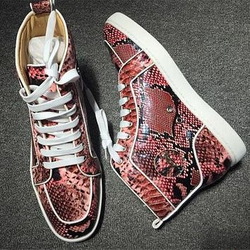 Cl Christian Louboutin Python Style #2260 Sneakers Fashion Shoes