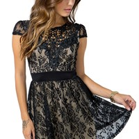 Eliza Crochet Cap Sleeve Dress