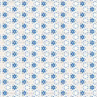 Acrylic Blue Floral Triangles - heatherdoucette - Spoonflower