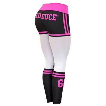 Six Deuce Pink Mesh-Tech X-Fit Fitness Leggings