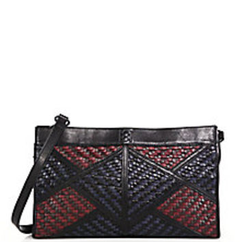 Christopher Kon - Geo Patch Smooth & Woven Leather Shoulder Bag - Saks Fifth Avenue Mobile