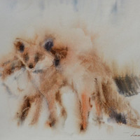 Fox Painting, Fox Art, Fox Wall Art, Fox Watercolor, Animal Watercolor, Animal Painting, Animal Art, Custom Watercolor, Fox Wall Decor