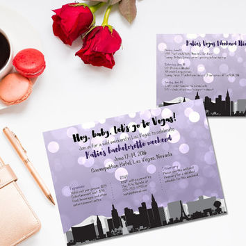 Printable Vegas bachelorette invitation/ Vegas bachelorette party/ Vegas weekend invitation/ bachelorette weekend invitation/ girls weekend