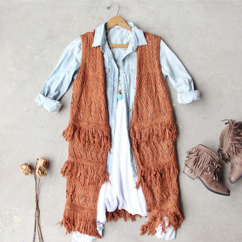 Rusted Romance Sweater Vest