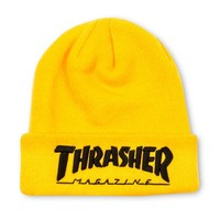 Thrasher Magazine Shop - Embroidered Logo Beanie Yellow/Black