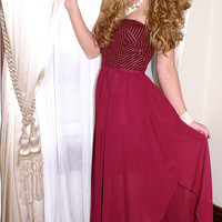In This Moment Dress: Burgundy