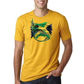 Jamaica Flag & Humming Bird T-shirt