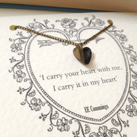 EE Cumings Heart Locket Necklace