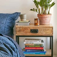 Casper Industrial Wooden Nightstand