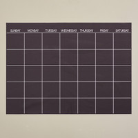 Zipcode™ Design Monthly Dry Erase Calendar Chalkboard Wall Decal
