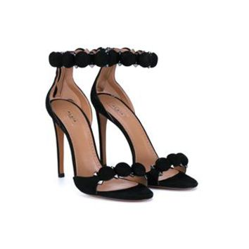AZZEDINE ALAÏA   Suede Ankle-Strap Sandals   brownsfashion.com   The Finest Edit of Luxury Fashion   Clothes, Shoes, Bags and Accessories for Men & Women