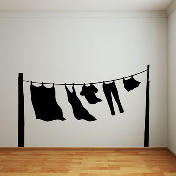 Vinyl Wall Decal Sticker Hang Out to Dry #OS_MB902