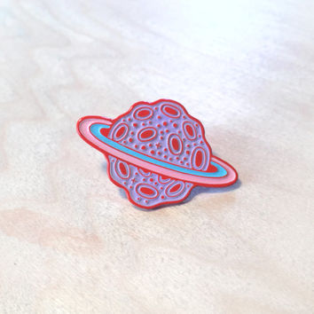Totally Extinct Planet Enamel Pin