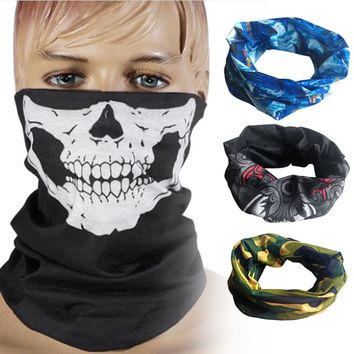 Seamless Scarf Skull Mask Skeleton Balaclava Ghost Tactical Breathable Outdoor Sports Ski Cycling UV Protect Skull Face Mask
