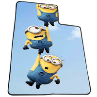 three little minion  for Kids Blanket, Fleece Blanket Cute and Awesome Blanket for your bedding, Blanket fleece *AD*