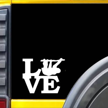 Sloth Love Decal Sticker *J516*