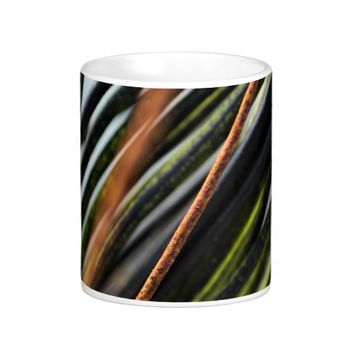 abstract black red and green urban photograph coffee mug
