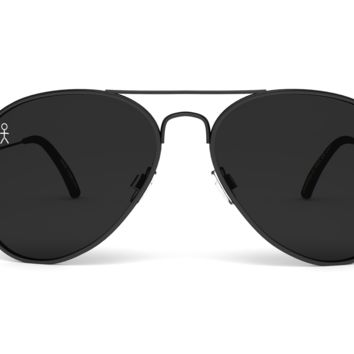 Jetsetter Aviator - NYC - Matte Black/Smoke 58mm