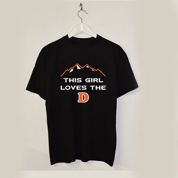 this girl love the D T-shirt unisex adults USA