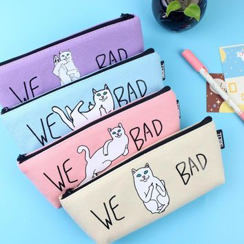 Cat Pencil Case High Quality Canvas School Supplies Kawaii Stationery Great Gift School Cute Pencil Box Pencilcase Students