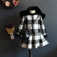 Free Shipping Autumn Children Plaid Dress Set Little Girls Plaid Outerwear + Plaid Skirt Cotton Kids Clothing Set White Red-in Clothing Sets from Mother & Kids on Aliexpress.com | Alibaba Group