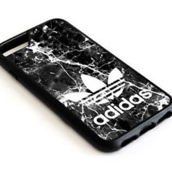 White Marble Adidas Stripe iPhone 8 and 8 Plus Hard Plastic Protector Case