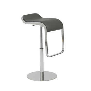 Eurostyle Freddy Adjustable Bar-Counter Stool in Gray & Chrome