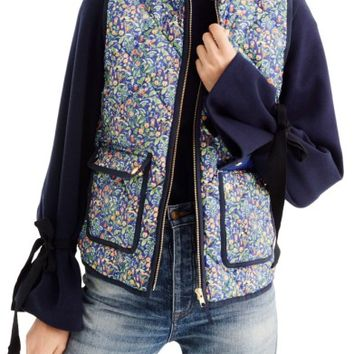 J.Crew Liberty Catesby Floral Excursion Vest (Regular & Petite) | Nordstrom