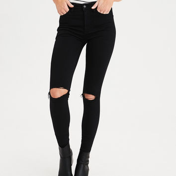 AE Ne(X)t Level Super High-Waisted Jegging, Black Slash