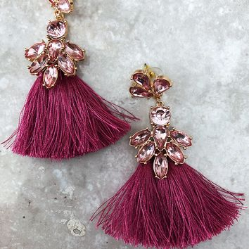 Last Forever Earrings: Dusty Magenta
