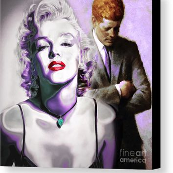 Marilyn Monroe And John F Kennedy 20160106 Canvas Print