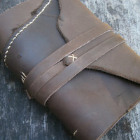 "Leather Journal / Pocketbook / Diary / 6""X4"" / FREE initials"