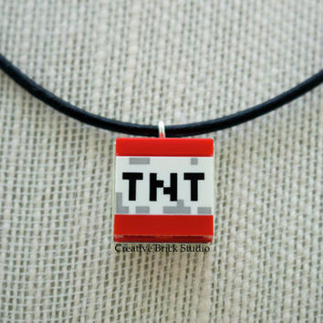 Minecraft® Necklace, Lego® Minecraft Necklace, Unisex Leather Necklace - Geeky Chic Gift for Christmas, Birthdays, Special Someone