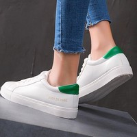 New shoes for women go with white shoes sneakers for students comfortable flat shoes