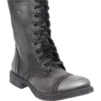 Chimney Pewter Tone Combat Boot