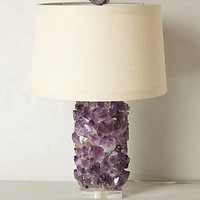 Amethyst Crystal Lamp Base