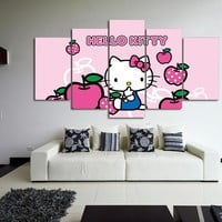 HELLO KITTY 5 piece wall art for kids room