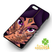 Disney princess jasmine face purple beautifull-1nnaa for iPhone 6S case, iPhone 5s case, iPhone 6 case, iPhone 4S, Samsung S6 Edge