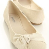 Natural Linen Closed Round Toe Knotted Flats @ Amiclubwear Flats Shoes online store:Women's Casual Flats,Sexy Flats,Black Flats,White Flats,Women's Casual Shoes,Summer Shoes,Discount Flats,Cheap Flats,Spring Shoes,Cute Flats Shoes,Women's Flats Shoes,Snea