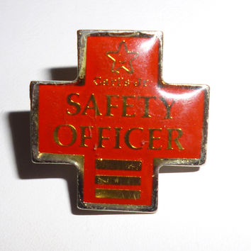 Carls Junior Hamburgers Fast Food Restaurant Safety Officer Pin