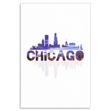Chicago City Skyline Landmark U.S.A Souvenir Travel Canvas Art