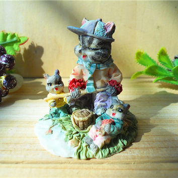 Home Holiday Decoration Resin Rabbit Crafts Gift Easter Bunny Micro Landscape Free Shipping