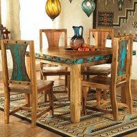 Azul Barnwood Table & Chairs - 5 pcs