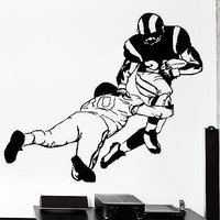 Wall Sticker Sport Football Wide Receiver Quarterback Super Bowl  Decal Unique Gift (z2966)