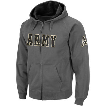 Army Black Knights Classic Twill Full Zip Hoodie Jacket - Charcoal
