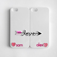 Love's Arrow Customized iPhone 4/4S Case Set by VanityCases