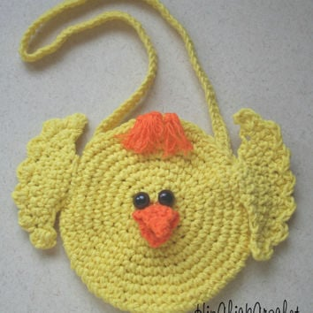 Sweet Lil Easter Chick Purse CROCHET PATTERN - Instant Download