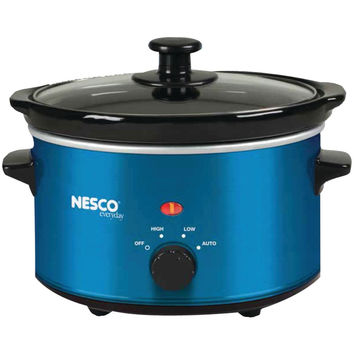 NESCO 1.5-Quart Oval Slow Cooker (Metallic Blue) SC150B SC-150B 78262009253
