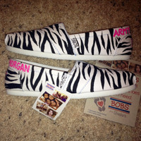 Army Strong Custom BOBS with Zebra Print